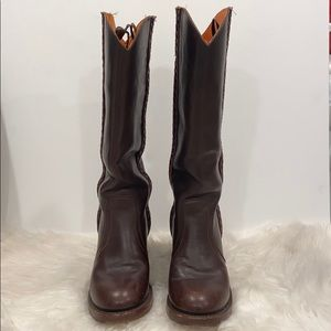 Brown Leather FRYE Boots size 8 B